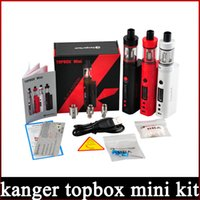 starter beginner - 1 Clone Kanger topbox Mini W Kit Subox Mini Pro Starter Kit Top Refilling Tank Watt TC Mod Newest KangerTech Beginner Kit