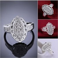 Wholesale LKNSPCR558 hot sale Factory Price Ring fashion jewelry silver plated Romantic Ring