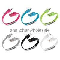 bands fast charger - 50pcs New Design Fast Charging cm Portable Noodle Usb Charger Cable Sync Data Bracelet Wrist Band Charger Cable Adaptor for Mobile Phone