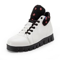 best women tops - Lace Up Height Increasing Casual Shoes for Women Winter Best Leather High Top Womens Jogging Shoes Sneakers