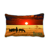africa cloth - 20X30 Cushion Cover Teal Blu Composite cloth Throw Pillow Case Africa Home Decorective Cover Zip Closure