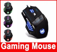 Wholesale 7200 DPI Professional Gaming Mouse For the Game USB Wired Game Mouse For PC Computer Desktop Laptop Hot Selling