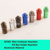 Wholesale Aluminum Pill Container keychain container net container plastic