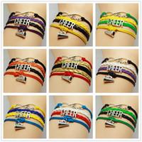 Wholesale Infinity Love Cheer Speaker Football Team Bracelet Customize Oakland Sport wristband friendship Bracelets