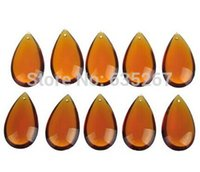 Wholesale mm Glass Crystal Chandelier Prisms Ceiling Lamp Teardrop suncatcher Pendants