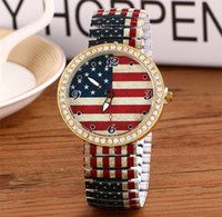 american girl glasses - Wrist Watches fashion American Flag Cartoon Tiger Rose Flowers Pattern Watch Young Men Women Girls Boys Wristwatches