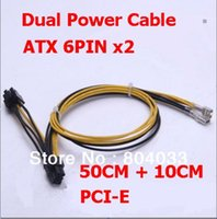 adapter atx - T PCI E express Power Cable CM Dual PSU Power Supply pin ATX AWG Adapter PSU Cable Riser Cable for Bitcoin Miner
