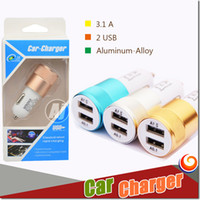 best micro car - Best Metal Dual USB Port Car Charger Universal V A for IPhone iPad Android Samsung Galaxy S7 Motorola retail box