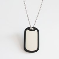Wholesale 100pcs Silver Aluminum Military Dog Tag With Rubber Silencer and cm Bead Chain Army Men Pendants