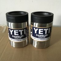 beer cans - 2016 Hot Sale oz Stainless Steel Colster can Yeti Coolers Rambler Colster YETI Cups Cars Beer Mug Insulated Koozie oz in Stock