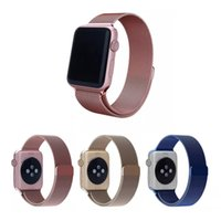 Wholesale Magnetic Buckle Bracelet Milanese Loop watchbands Stainless Steel band for apple watch mm mm Watchband