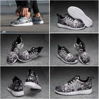 athletic shoe size - Drop Shipping Famous Roshe One Cherry Blossom Wolf Grey Black White Women s Athletic Sneakers Sports Running Shoes Size