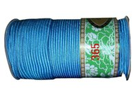 best nylon rope - 4mm Lake Blue Best Flat Line Nylon Cord m Roll Jewelry Accessories Macrame Rope Bracelet Necklace Chinese Knot Beading Cords