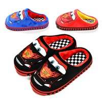 Wholesale Fashion winter fashion cute boys girls cartoon red car cotton sandals children s home warm indoor slippers kids footwear McQueen O101