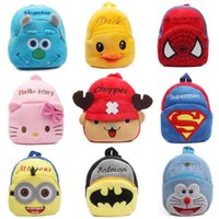 Wholesale Plush backpack New cute cartoon kids toys mini schoolbag Children s gifts kindergarten boy girl baby student bags lovely Mochila