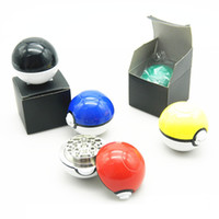 Wholesale Latest poke Pokeball Grinders pc Poke Metal Grinder Poke Ball Herb Grinder Zinc Alloy ABS Tobacco Grinders Parts b515