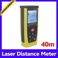 achat en gros de laser jaune livraison gratuite-niveau laser 40m de mesure de poche noir et jaune pas cher MOQ laser de mesure de distance = 1 livraison gratuite