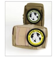 Wholesale 3pcs D Rubber saving the earth Patches Military Velcro armband Badge morale Tactical patche badges