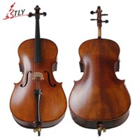 Wholesale TONGLING Antique Matt Cello Natural Flamed Maple Violoncello Professional Acoustic Musical Instrument