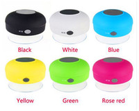 Cheap 2016 Wireless Bluetooth Speaker Dustproof Mini Speakers Handfree Sucker Colorful BTS-06 The bathroom Waterproof speakers DHL free