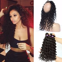 banding machines - Hot Selling Lace Band Frontal With Bundles A Peruvian Hair Deep Wave With Band Lace Frontal With Bundles
