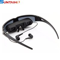 Wholesale Portable Eyewear quot Wide Screen Virtual Video Glasses with AV Input for PS2 Xbox Wii Game Console Watch TV