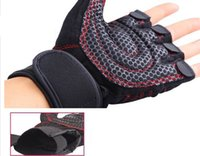 basketball weights - Semi Finger Gloves Gym Body Building Training Fitness Gloves Instrument Half Finger Gloves Weight Light Exercise Breathable Wrist Wrap