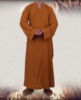 art shaolin kung fu - Shaolin Monk Buddhists Lay Monk Meditation robe Kung fu jacket Martial art Wushu Zen meditating clothes