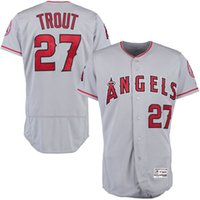 baseball team angels - Cheap New Men s Los Angeles Angels of Anaheim Mike Trout Majestic Grey Authentic Collection Team Baseball Jersey Mixed order