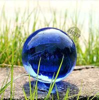 ball sphere quartz - Blue Asian Natural Quartz Magic Crystal Glass Healing Ball Sphere Stand mm