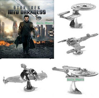 Wholesale Star Trek DIY D Models Styles Metallic Nano Puzzle no glue required For adult Chirstmas gift Free DHL TNT