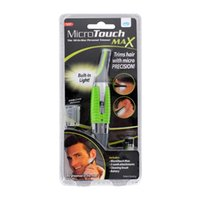 Wholesale Micro Trimmer Remover Touch Max Personal Ear Nose Neck Eyebrow Hair Trimmer Remover Brand new Green BY DHL