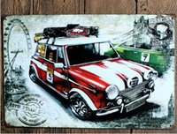 american car craft - London red car tin posters Creative posters cm decorative sheet metal painting decorative crafts and gifts