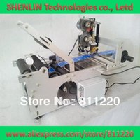 Wholesale Round Bottle Labeling machine label applicator code hot stampping tags coding printing sticking sticker tools equipment coder