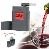 Wholesale tester ph Send mouthpieces Breathalyzer AT Digital Breath Alcohol Tester with mouthpiece High Quality
