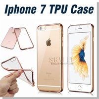 apple soft plastics - For Iphone Case Note Case Colorful TPU Electroplating Case Backcover Ultra Thin Case Galaxy S7 TPU Case Soft Gel Silicone Case Opp Bag