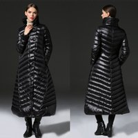 Wholesale Cheap Womens Winter Clothing - Cheap X-Long Women's Down Coat Turtle Neck Womens Outerwear Fast Shipping Winter Warm Clothing Womens Long Down Parkas