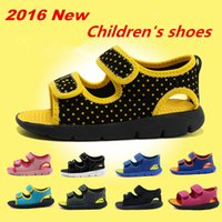 beach shoes children - 2016 NEW Youth Double buckle Sandals Kids Beach shoes Fashion Children Casual shoes Skateboarding shoes