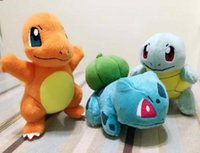 Wholesale Poke plush toys doll Bulbasaur Charmander Squirtle cm Newest Collectible Plush Figure Doll