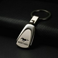 Wholesale Interior Accessories Key Rings Mustang Keychain Water Drop Car Emblems Mustang Keyrings Metal Gift gift lamp