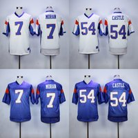 Wholesale Alex MORAN Jersey Blue Mountain State Movie Jersey Kevin Thad CASTLE Men s Stitched Blue Mountain State Movie Football Jersey