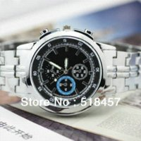 accurate silver - New Accurate Luxury Silver Stainless Steel Quartz Men s Casual Wrist Watch Top Sale