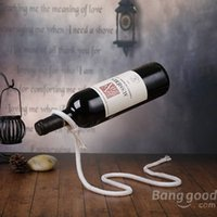 Wholesale Magical Red Wine Rack Snake Dangling Rope Wine Rack Chain Wine Holder