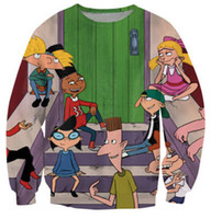 Wholesale women men sweatshirts Arnold Friends Crewneck Sweatshirt s Cartoon Hey Arnold The Movie Sweat plus size S XL