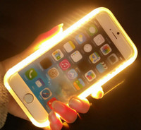 Wholesale Luxury Ultra thin Fill Light Case LED Lighting Up Cases Soft TPU Back Cover Cases for iPhone s quot s Plus quot PK666