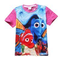 Wholesale 2016 Fashion Kids Cartoon Finding Dory T Shirt Girls Tops Finding Nemo Kids Baby Girls Boys T shirts Child Clothes Clothing TM