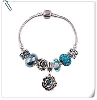 Wholesale Crystal Clay For Sale - T01AP Bohemian Vintage Blue Crystal Rhinestone Love Bracelets For Women Christmas Gift 2016 Hot Sale Ceramic Beaded Bracelet Magnetic Clasp