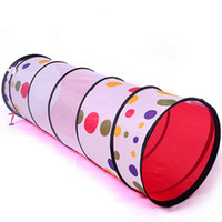 Wholesale Christmas Gift educational toys child creeping tunnel dot print tunnel tube kids play tent tunnel
