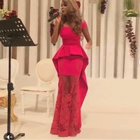 apple bottoms dresses - 2016 Saudi Arabic Scoop Neck Prom Dresses Sheath Red Illusion Bottom Long Formal Evening Dresses Custom Made Myriam Fares