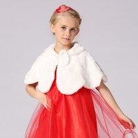 Wholesale Autumn and winter the female s new children hair Plush coat dress vest small child warm shawl